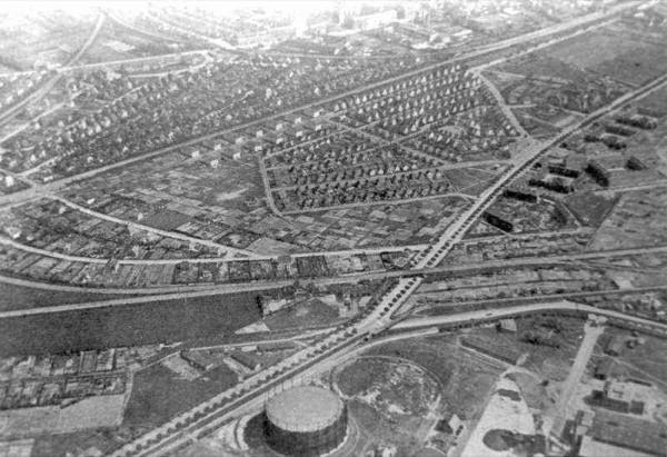 Luftfoto af kvarteret omkring Vigerslev Allé