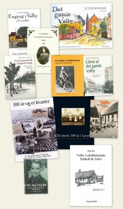 Bøger der kan købes i arkivet.