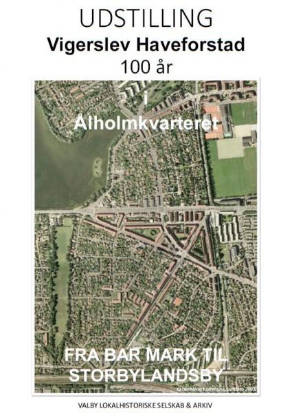 Plakat for udstillingen om Ålholm-kvarteret