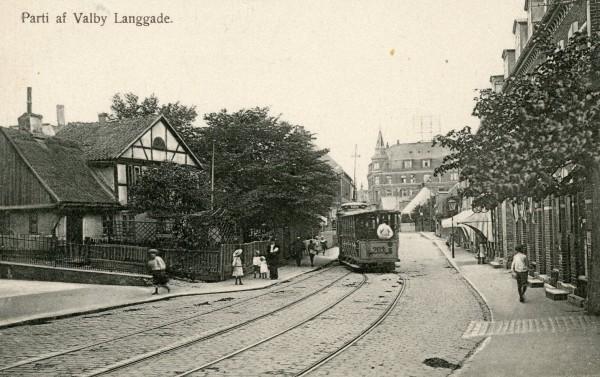 Valby Langgade fra øst mod Tingstedet