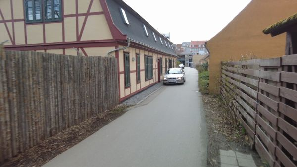 Scene fra gadefilm (Asta Nielsen Stræde)